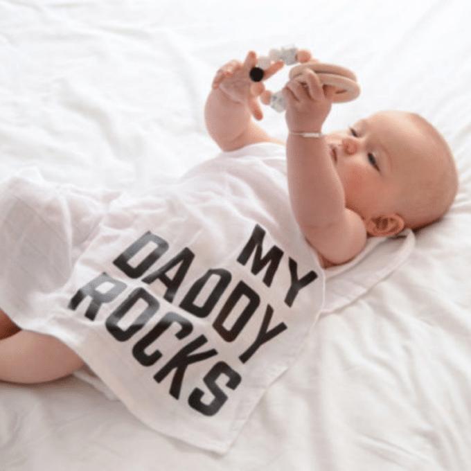 Swaddle My Daddy Rocks