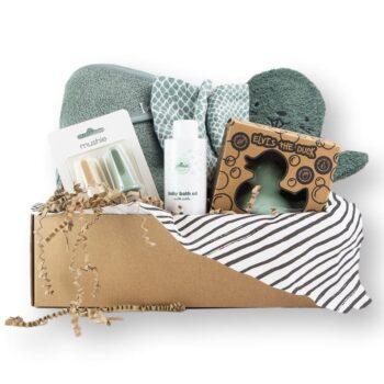 Bath time cadeaubox groen hip&Mama box