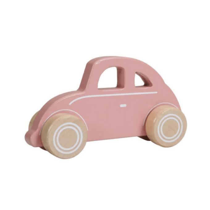houten Little Dutch auto roze