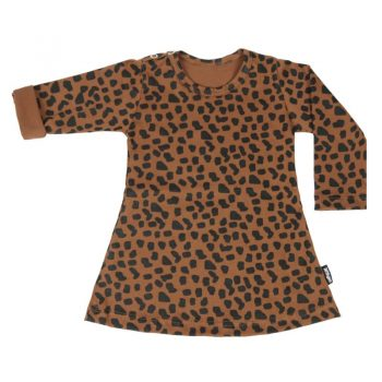 vanPauline jurkje dress caramel spots long