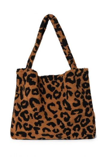 Studio Noos LIMITED EDITION Teddy Leopard brown mom bag 3