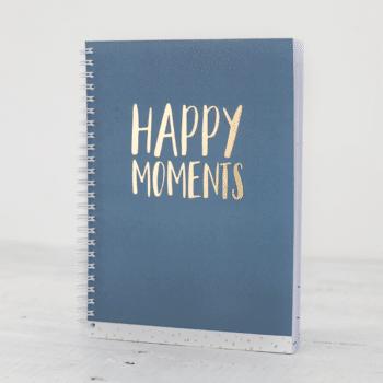 happy moments blauw