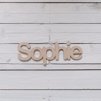Houten naambordje Sophie