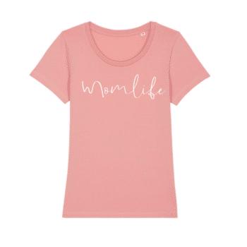 momlife shirt roze