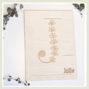 Poster floral letter