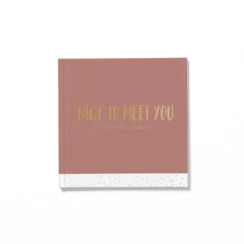 Nice to meet you blush kraambezoekboek