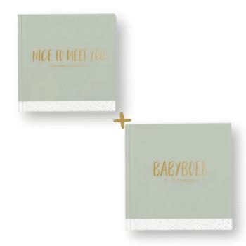 aanbieding set babyboek en kraambezoekboek
