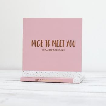 Invulboek kraambezoekboek roze nice to meet you