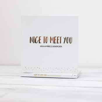Kraambezoekboek nice to meet you wit