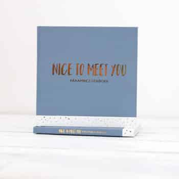 kraambezoekboek nice to meet you blauw