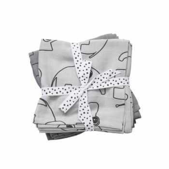hydrofiele swaddle contour grey done by deer