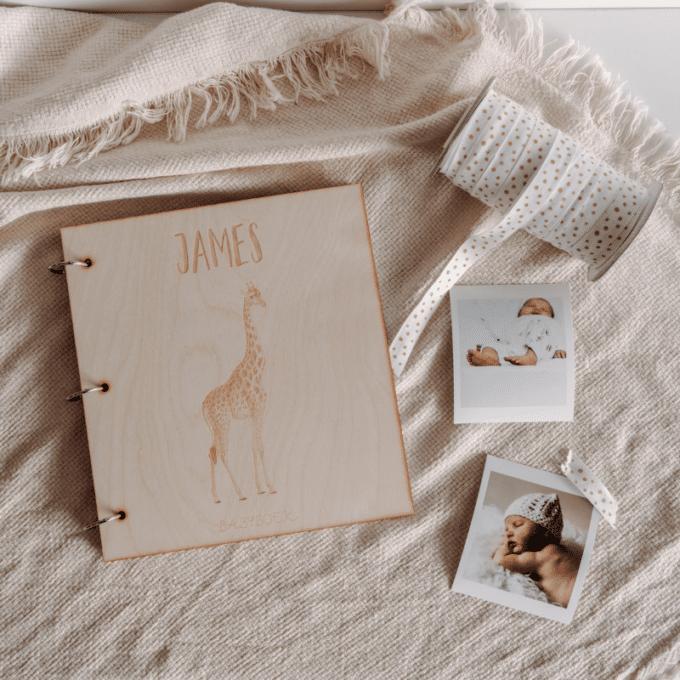 gepersonaliseerd babyboek giraffe