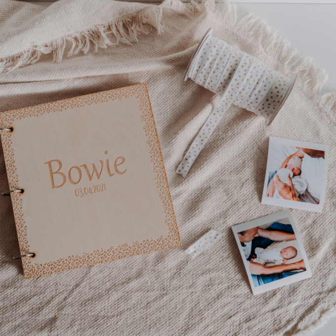 gepersonaliseerd babyboek leopard