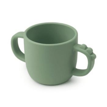 Peekaboo 2-handle cup Croco Green