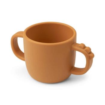 Peekaboo 2-handle cup Croco Mustard