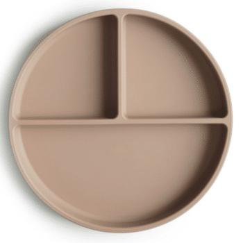 siliconen bord natural mushie
