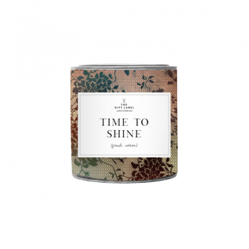 geurkaars groot time to shine the gift label